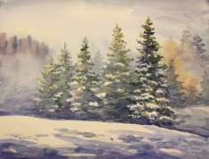 "Gantulga Tumendemberel - Canada. January 1st. 11x15""."