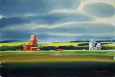 "Bhupinder Singh - Canada. Wakaw Canola Fields. 15x22"""