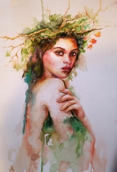"Zoya Tavangar - Canada. A Woman's Life. 11x15""."