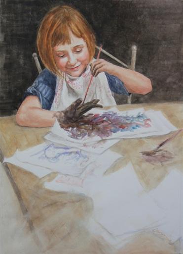 Barbara Farren Canada Finger Painting