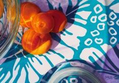 Frank Spino. USA. Aqua & Orange II
