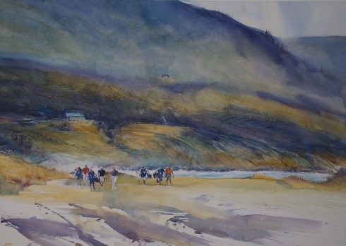 "Gail Sutherland Canada ""FIRST GAME"" Cabot Cliffs, Cape Breton, Nova Scotia"