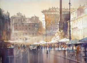 Michal Jasiewicz Poland An evening on Piazza Navona
