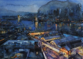 Yuechen Feng China Granville Island Night