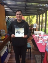 Chris will submit his helicopter to the local art show
